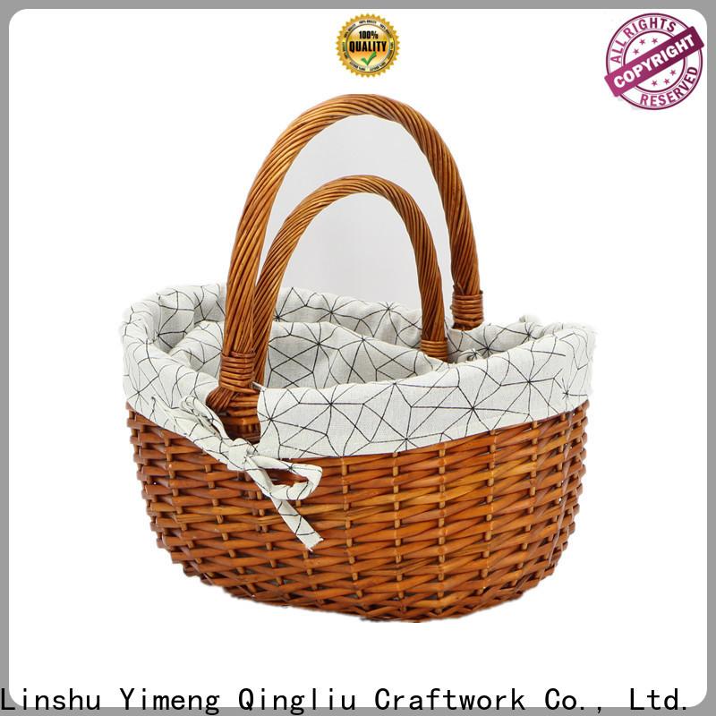Yimeng Qingliu lidded wicker basket for business for woman