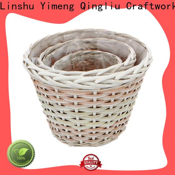 Yimeng Qingliu wicker bin suppliers for outdoor