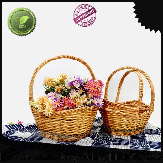 Yimeng Qingliu wholesale extra large log basket factory for girl