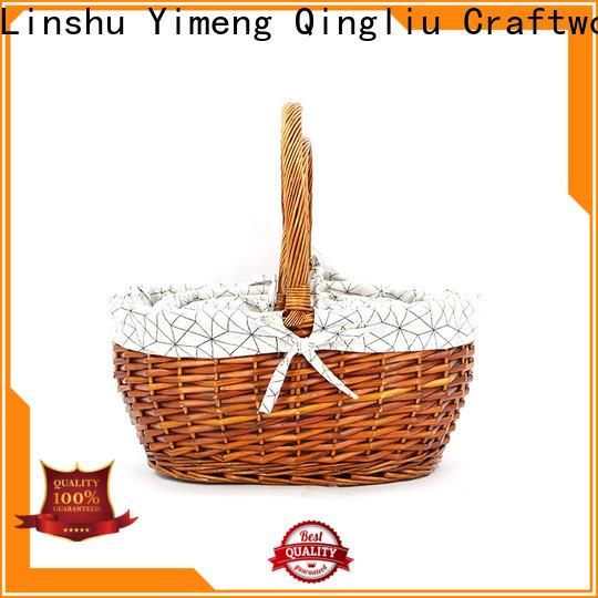custom cheap wicker baskets suppliers for woman