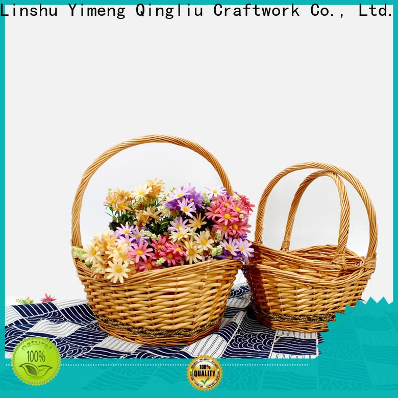 Yimeng Qingliu cream wicker baskets suppliers for gift