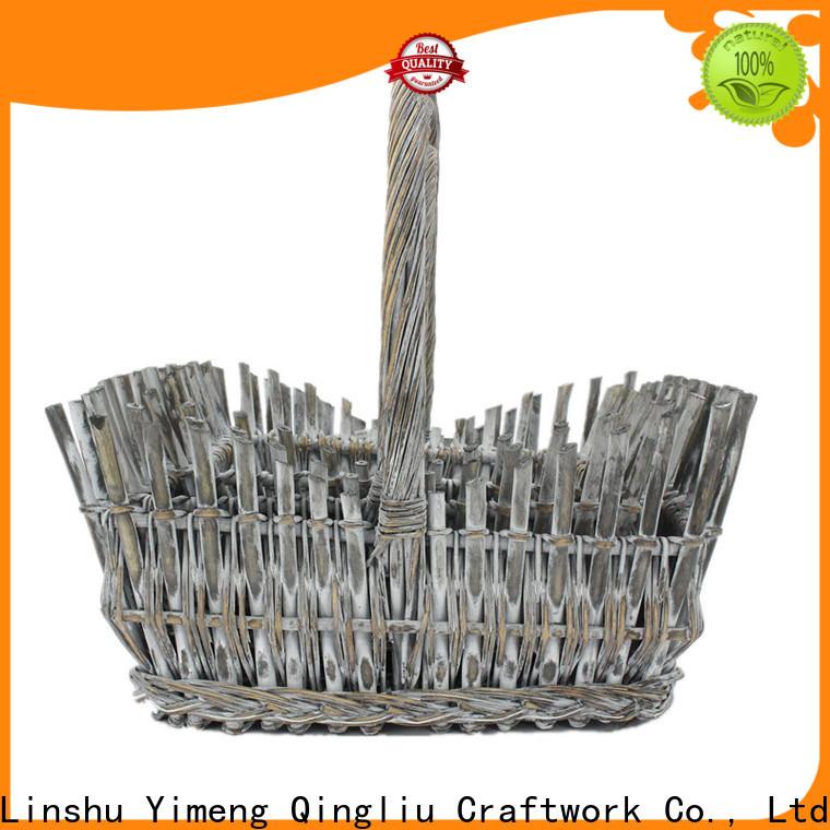 Yimeng Qingliu wicker log baskets uk supply for shopping