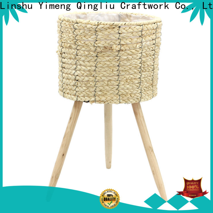 Yimeng Qingliu New lined seagrass plant basket suppliers for patio