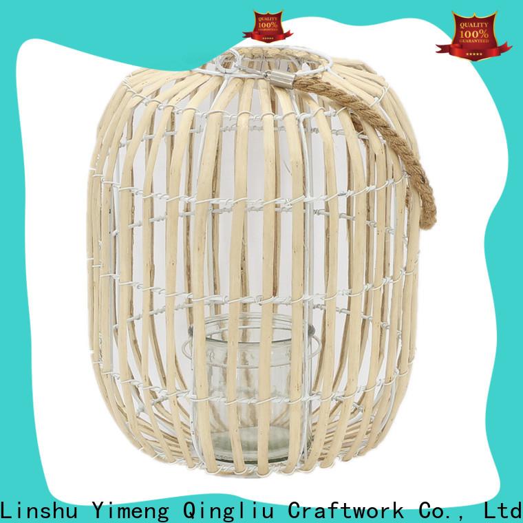 Yimeng Qingliu grey rattan solar lantern suppliers for garden