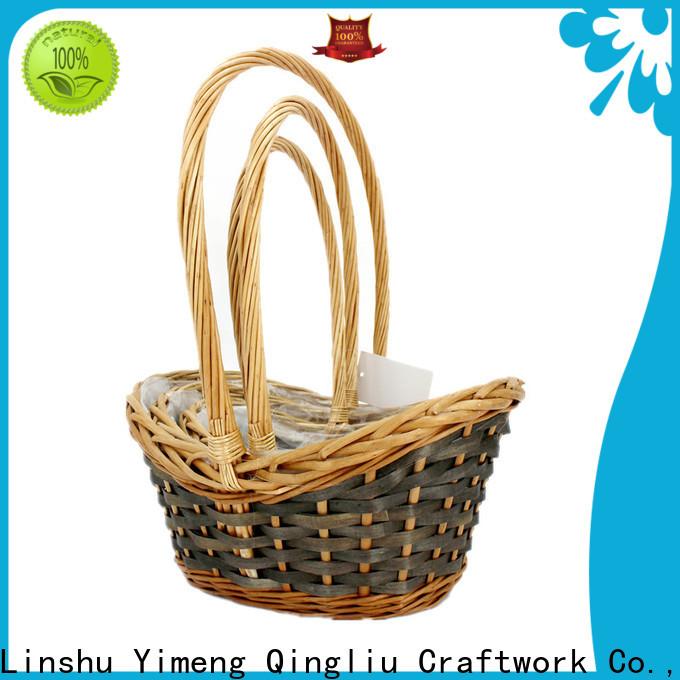 Yimeng Qingliu New empty wicker baskets company for woman