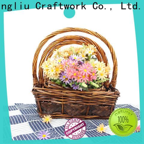 wholesale corner wicker laundry basket supply for outside