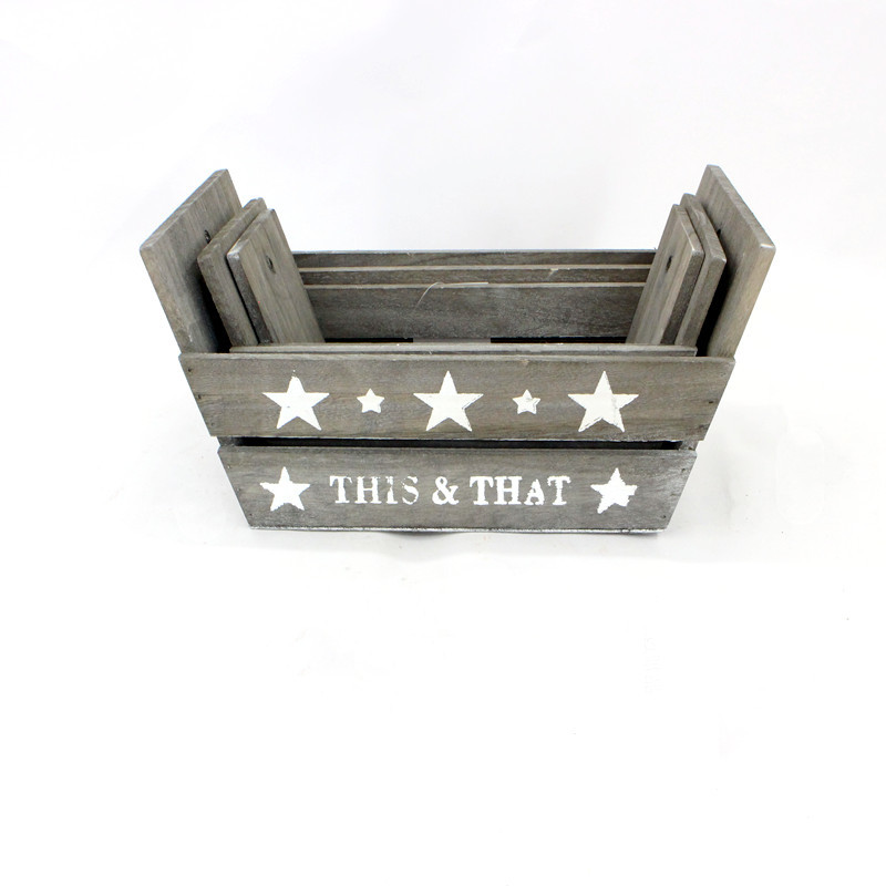 Small Rustic Style Wood Plant Pot