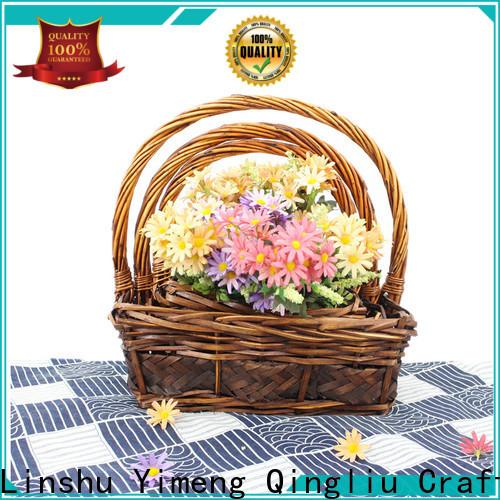Yimeng Qingliu wholesale pink hamper basket for business for outdoor