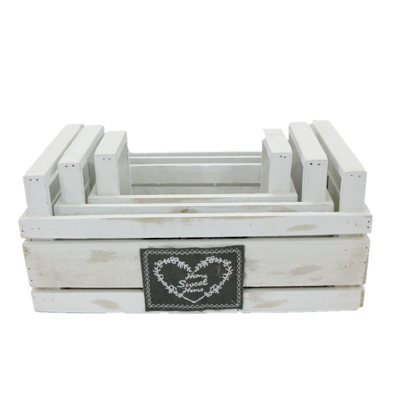 Standard White Wooden Crate