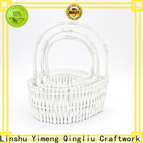 Yimeng Qingliu custom tall log basket factory for girl