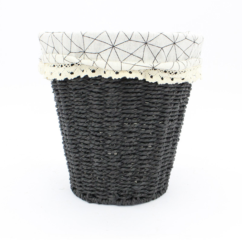 Black Rope Paper laundry Basket