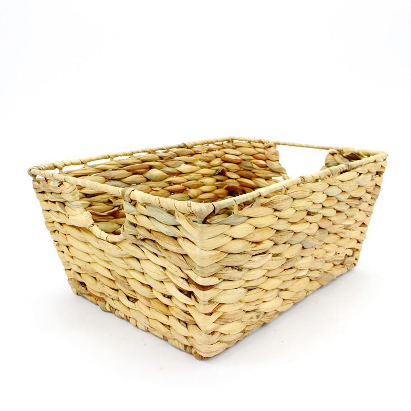 Natural Water Hyacinth Rectangular Basket